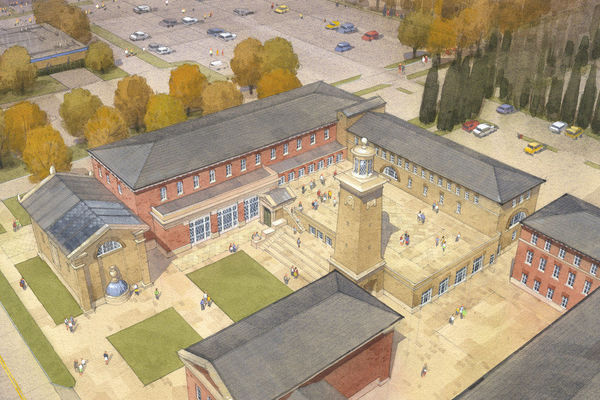 Architectural Renderings of Walsh Family Hall