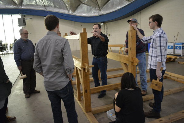Architecture Students Learn Wood Framing at Barn Raising