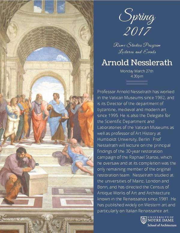 Spring 2017 Lectures And Events Nesselrath