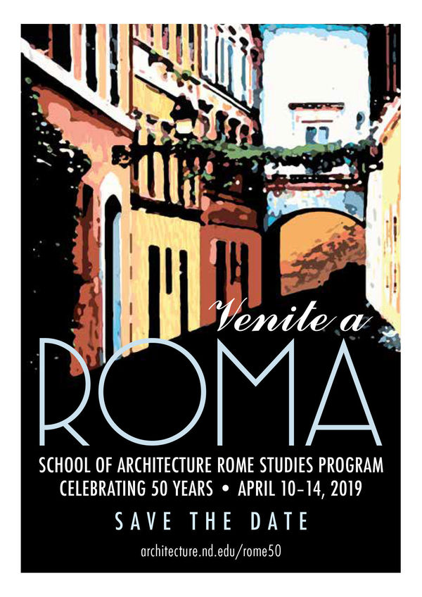 Rome 50 Years Save The Date