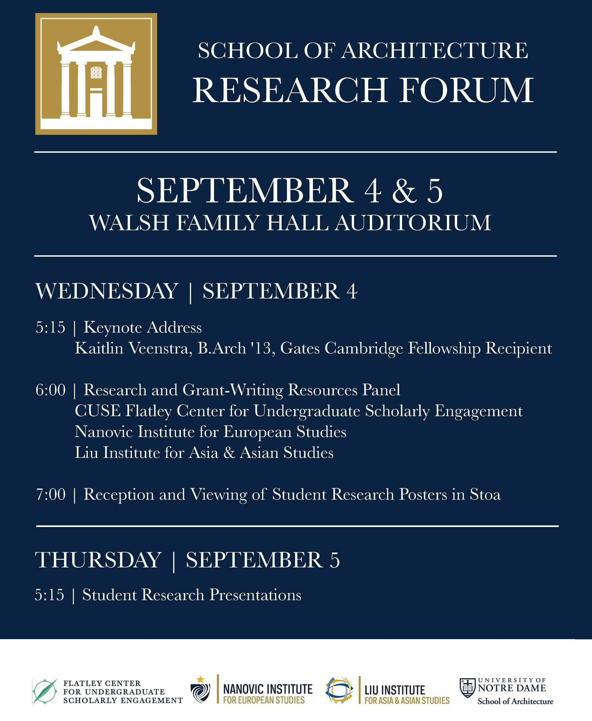 Research Forum Screen