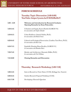 2020 Research Forum Schedule